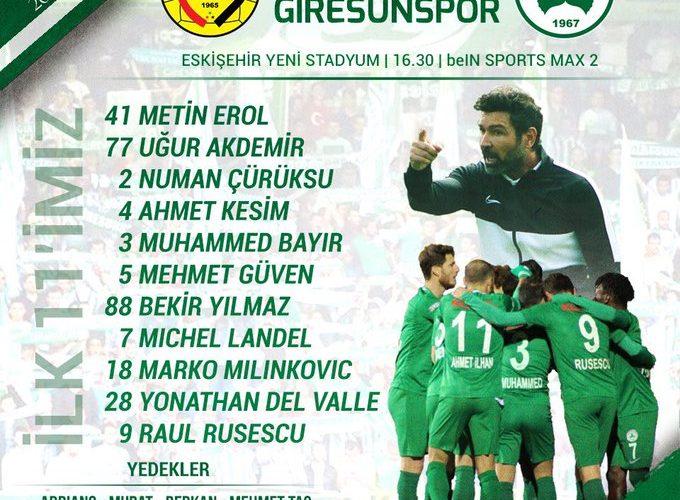 Giresunspor Eskişehirspor